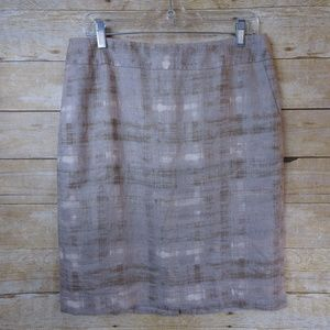 Ann Taylor Loft Lined Straight Skirt - size 8
